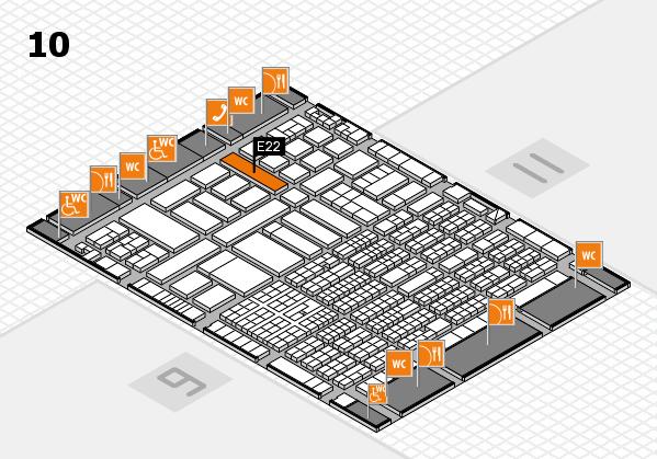 ProWein 2017 hall map (Hall 10): stand E22