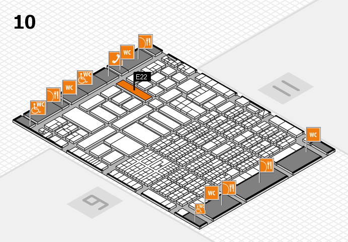ProWein 2017 hall map (Hall 10): stand E22