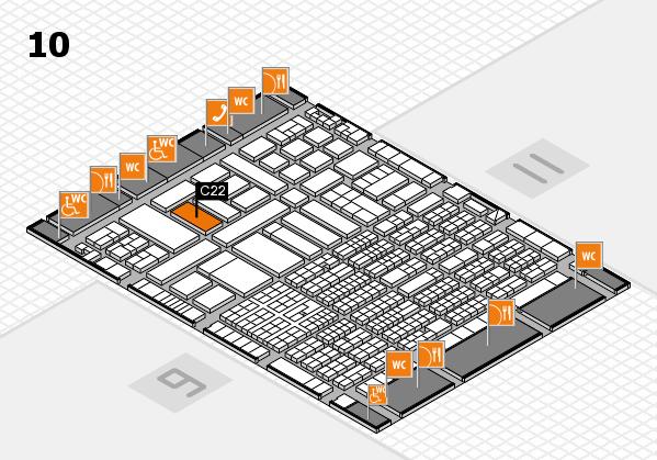 ProWein 2017 Hallenplan (Halle 10): Stand C22-56