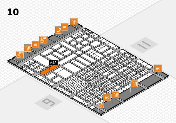 ProWein 2017 Hallenplan (Halle 10): Stand A42-8