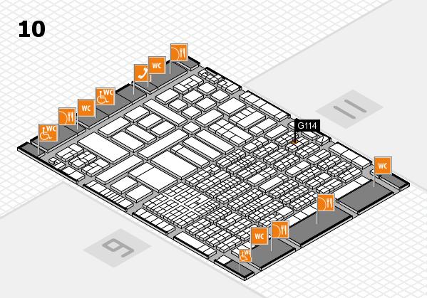 ProWein 2017 Hallenplan (Halle 10): Stand G114