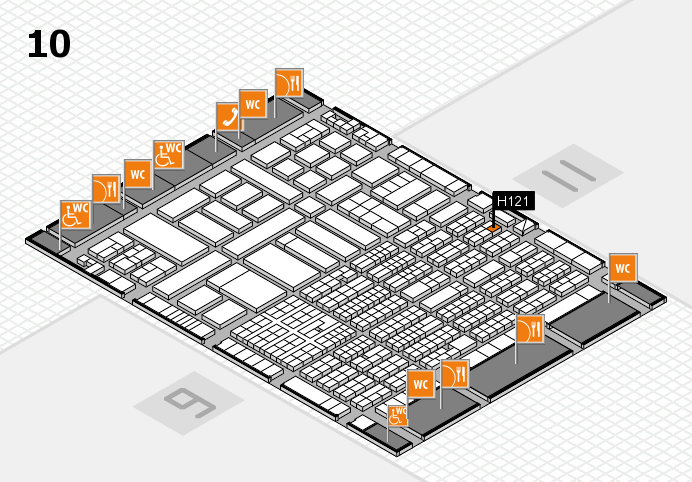 ProWein 2017 hall map (Hall 10): stand H121
