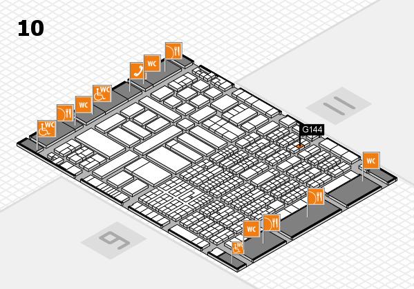 ProWein 2017 Hallenplan (Halle 10): Stand G144