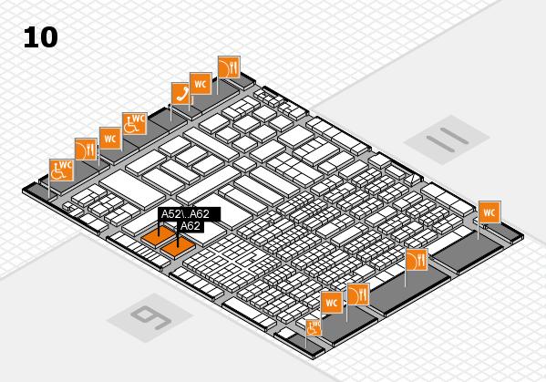 ProWein 2017 Hallenplan (Halle 10): Stand A52, Stand A62
