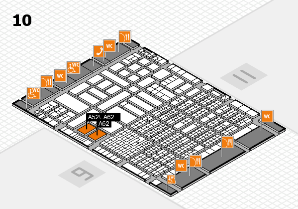 ProWein 2017 hall map (Hall 10): stand A52, stand A62