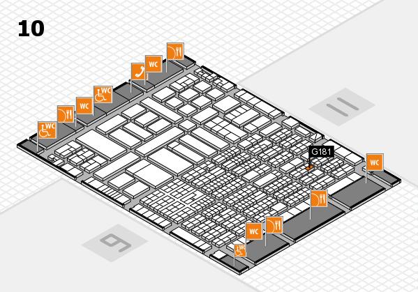 ProWein 2017 Hallenplan (Halle 10): Stand G181