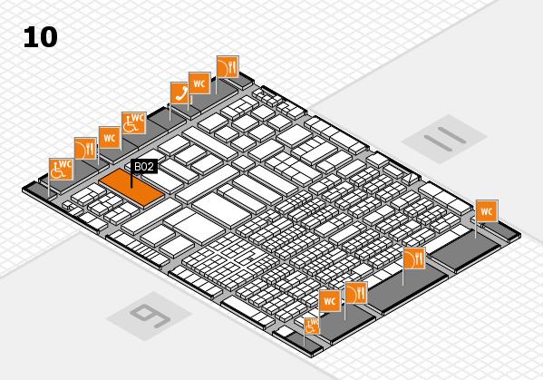 ProWein 2017 Hallenplan (Halle 10): Stand B02-31