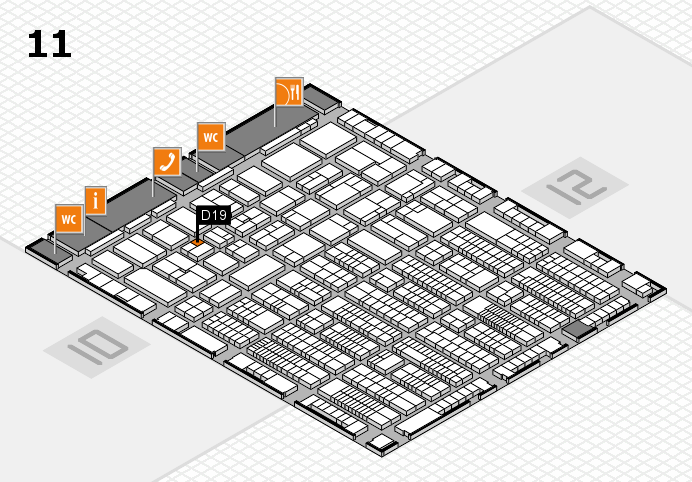 ProWein 2017 hall map (Hall 11): stand D19