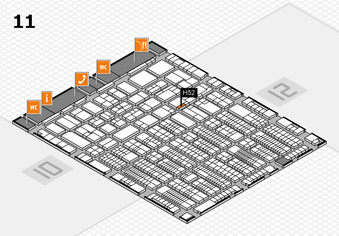 ProWein 2017 hall map (Hall 11): stand H52