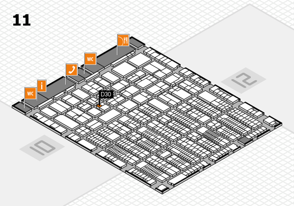 ProWein 2017 hall map (Hall 11): stand D30