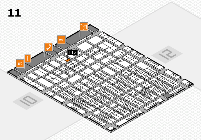 ProWein 2017 hall map (Hall 11): stand F15