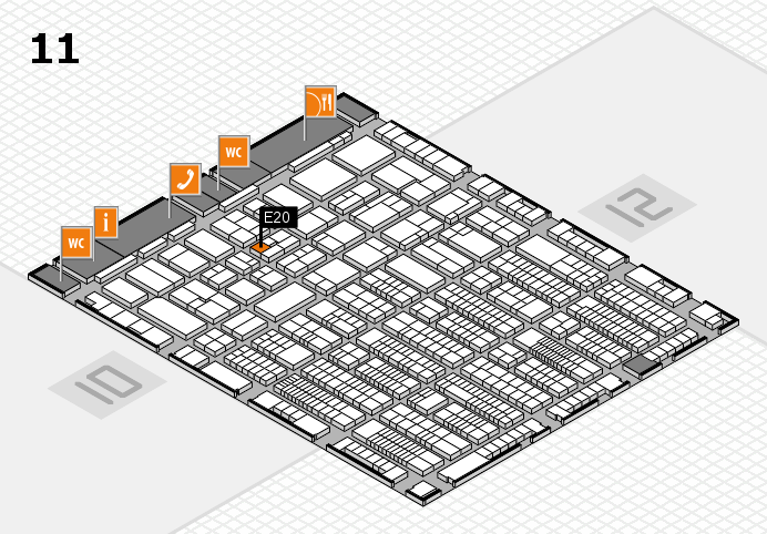 ProWein 2017 hall map (Hall 11): stand E20