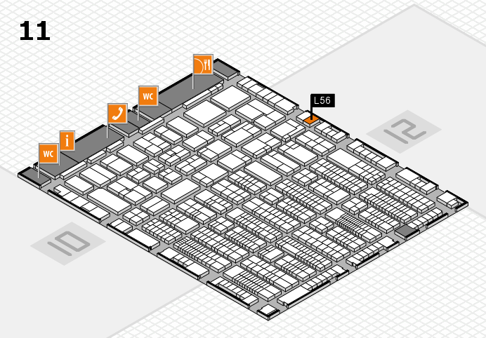 ProWein 2017 hall map (Hall 11): stand L56