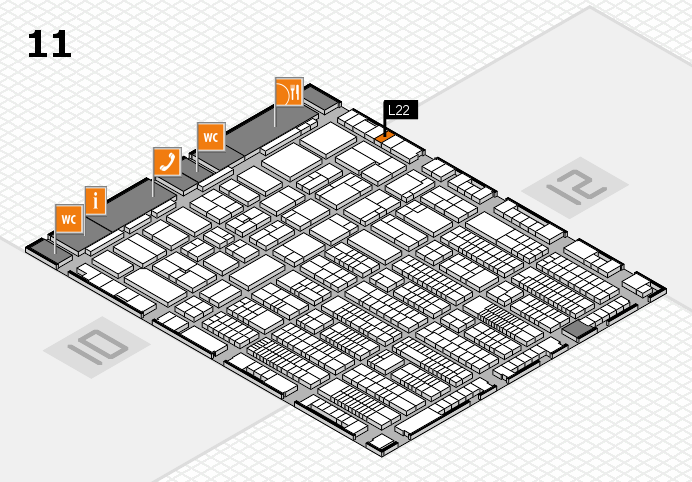 ProWein 2017 hall map (Hall 11): stand L22