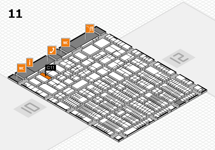 ProWein 2017 hall map (Hall 11): stand C11