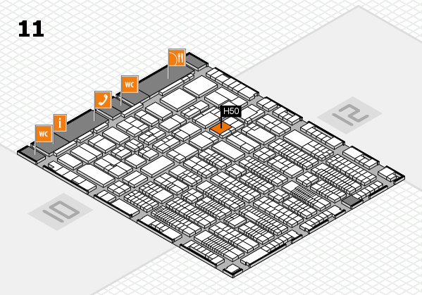 ProWein 2017 hall map (Hall 11): stand H50