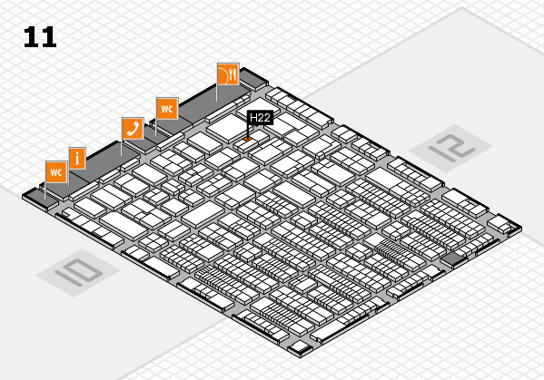 ProWein 2017 hall map (Hall 11): stand H22