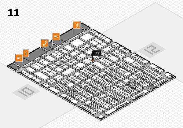ProWein 2017 Hallenplan (Halle 11): Stand H55