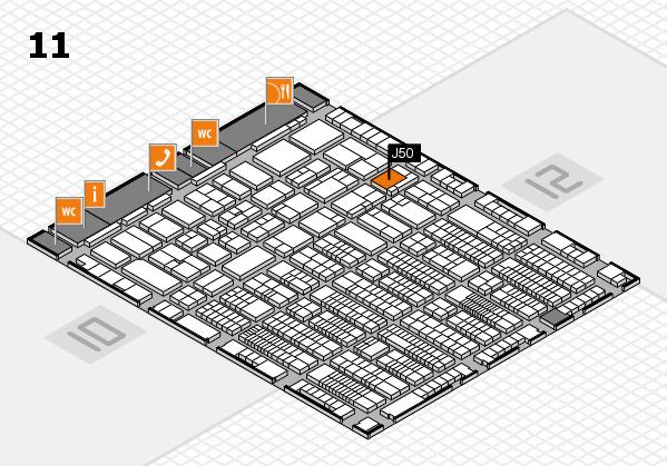 ProWein 2017 hall map (Hall 11): stand J50