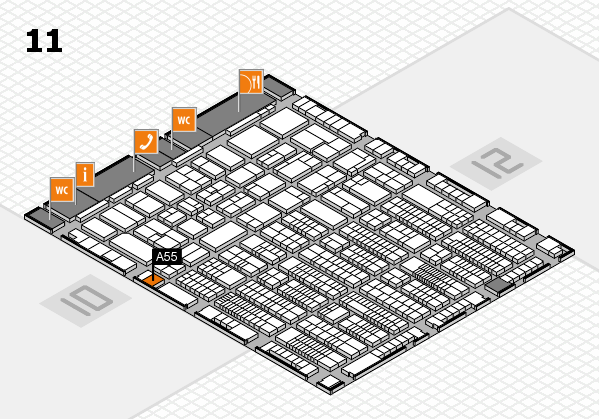 ProWein 2017 hall map (Hall 11): stand A55