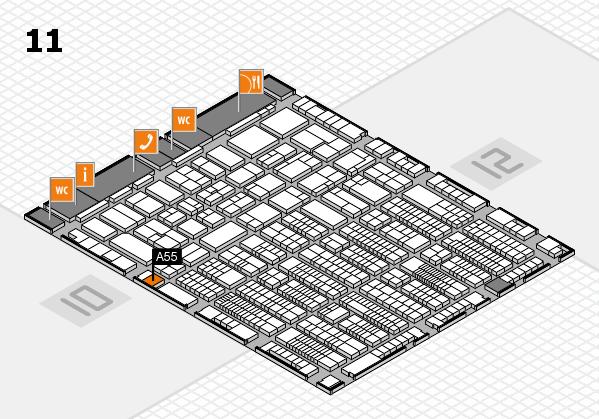 ProWein 2017 Hallenplan (Halle 11): Stand A55