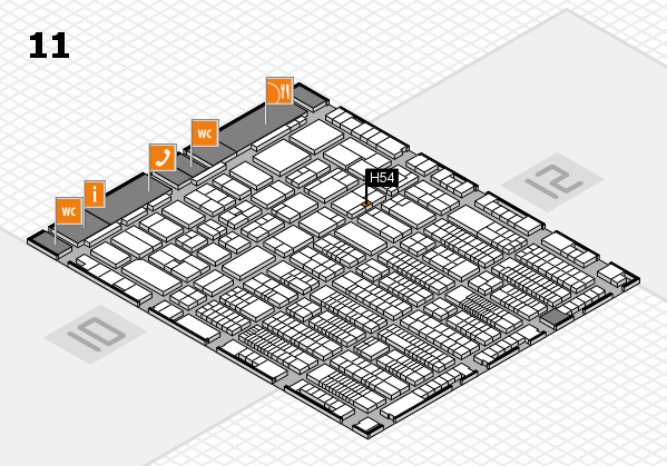 ProWein 2017 hall map (Hall 11): stand H54