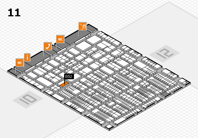 ProWein 2017 hall map (Hall 11): stand B52