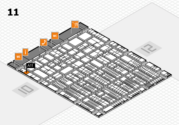 ProWein 2017 hall map (Hall 11): stand A11