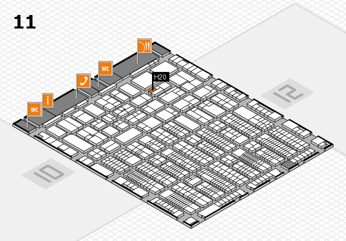 ProWein 2017 hall map (Hall 11): stand H20