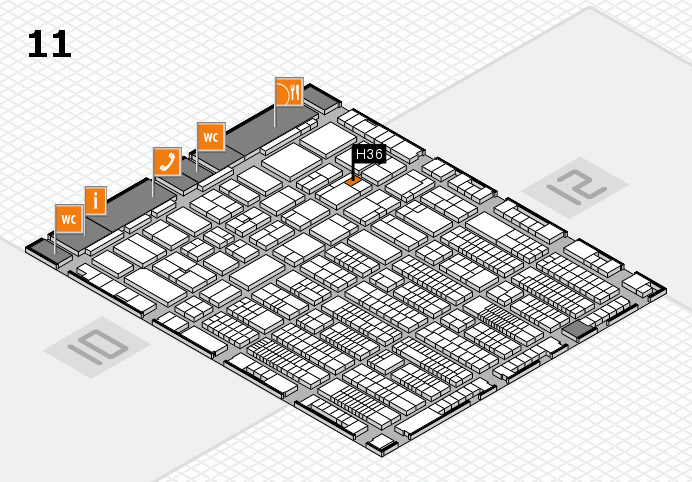 ProWein 2017 hall map (Hall 11): stand H36