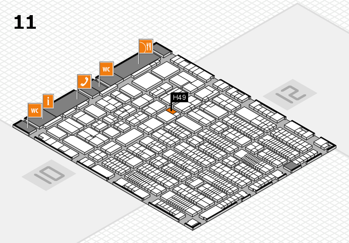 ProWein 2017 hall map (Hall 11): stand H49