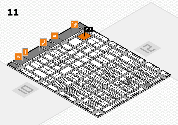 ProWein 2017 hall map (Hall 11): stand J10