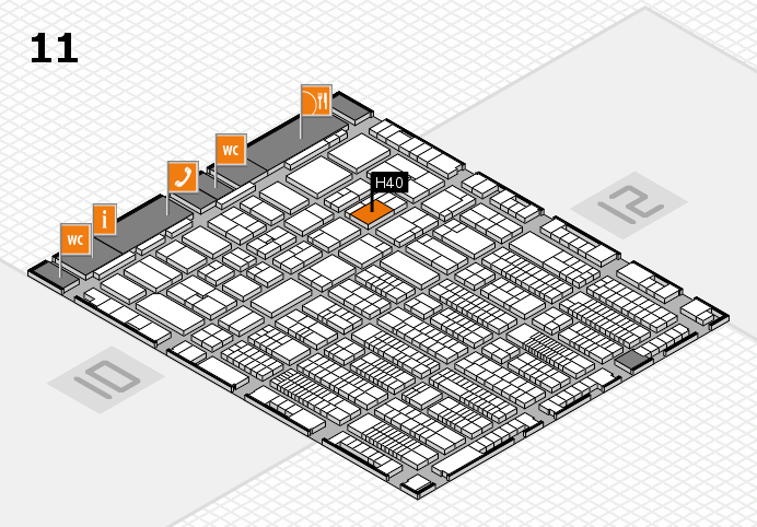 ProWein 2017 hall map (Hall 11): stand H40
