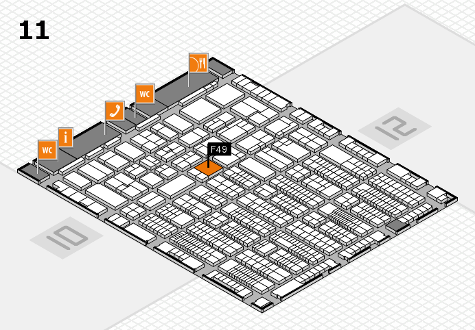 ProWein 2017 hall map (Hall 11): stand F49