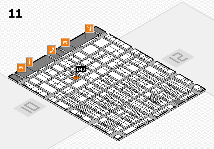 ProWein 2017 hall map (Hall 11): stand D40