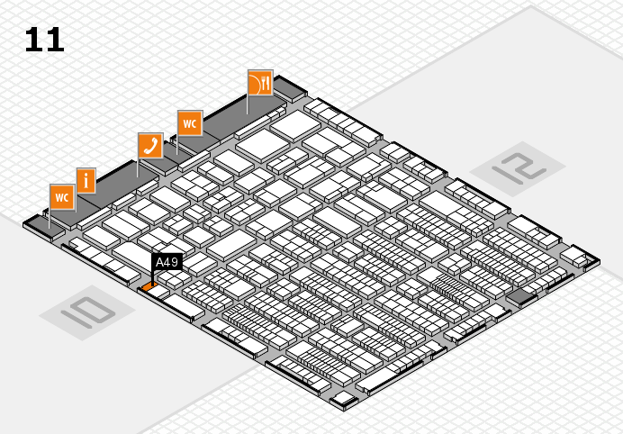 ProWein 2017 hall map (Hall 11): stand A49