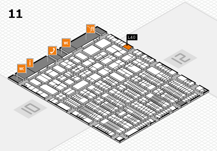 ProWein 2017 hall map (Hall 11): stand L40