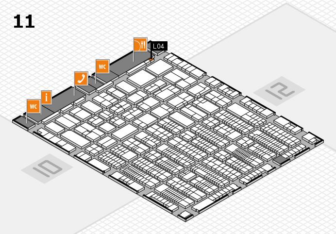 ProWein 2017 Hallenplan (Halle 11): Stand L04