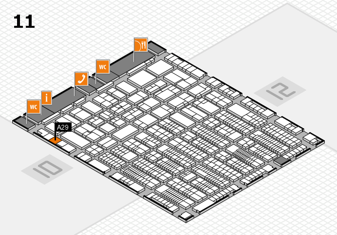 ProWein 2017 hall map (Hall 11): stand A29