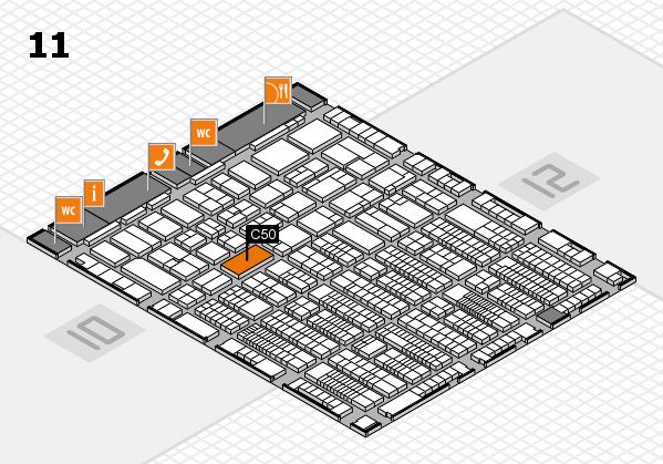 ProWein 2017 Hallenplan (Halle 11): Stand C50