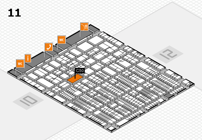 ProWein 2017 hall map (Hall 11): stand C50