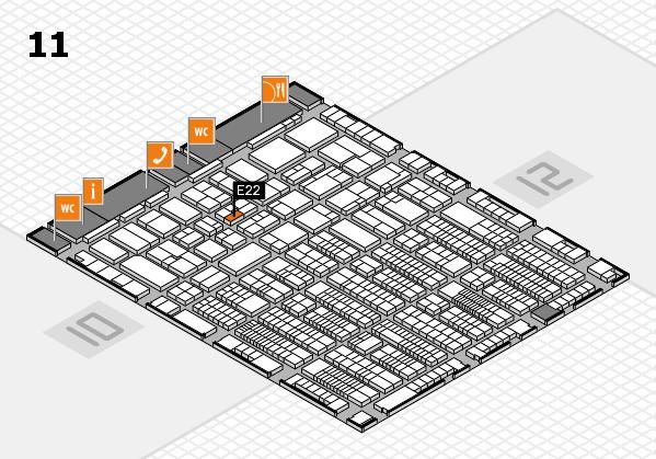 ProWein 2017 hall map (Hall 11): stand E22