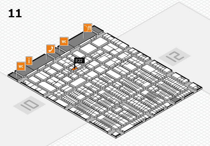 ProWein 2017 hall map (Hall 11): stand E22