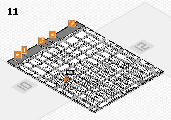 ProWein 2017 hall map (Hall 11): stand B68