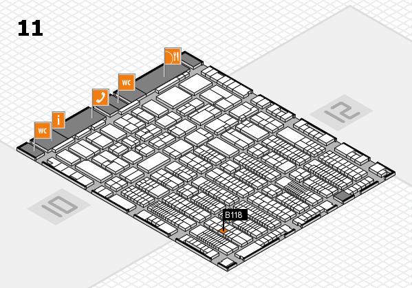ProWein 2017 Hallenplan (Halle 11): Stand B118