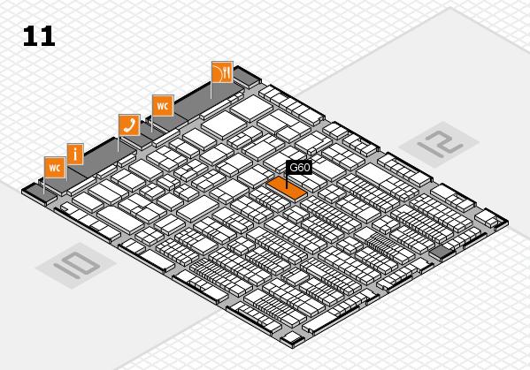 ProWein 2017 Hallenplan (Halle 11): Stand G60