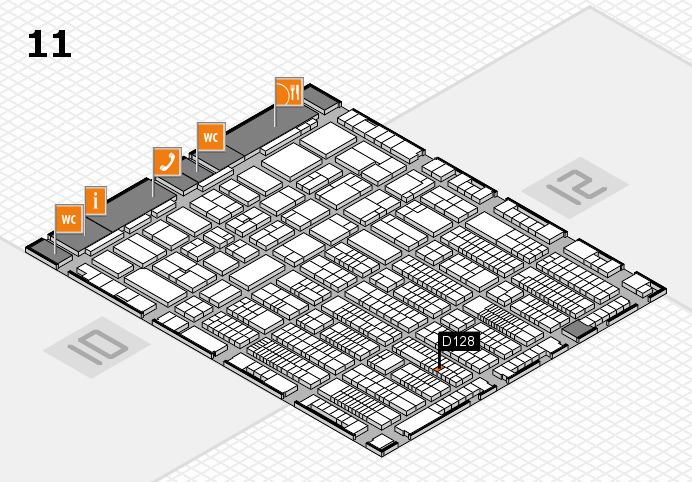 ProWein 2017 hall map (Hall 11): stand D128