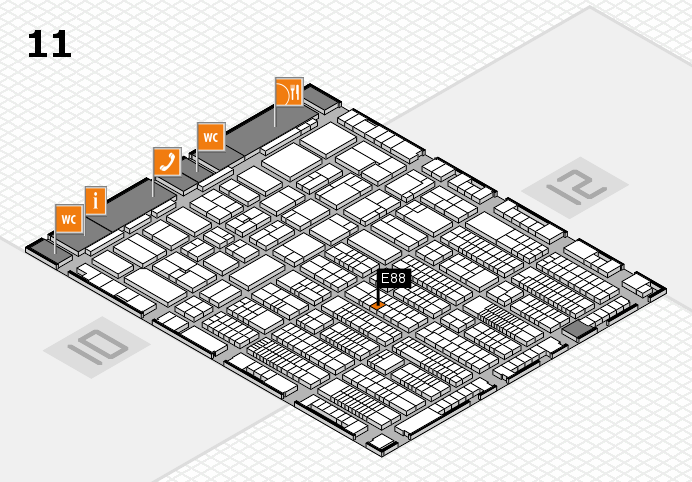ProWein 2017 hall map (Hall 11): stand E88