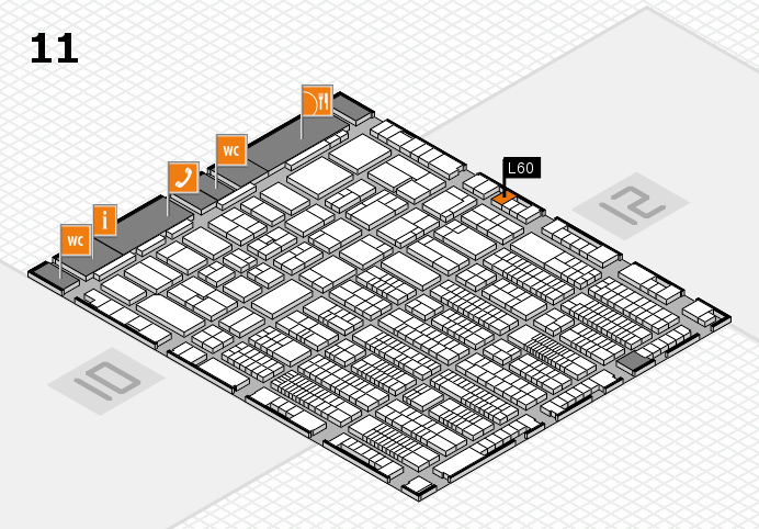 ProWein 2017 hall map (Hall 11): stand L60