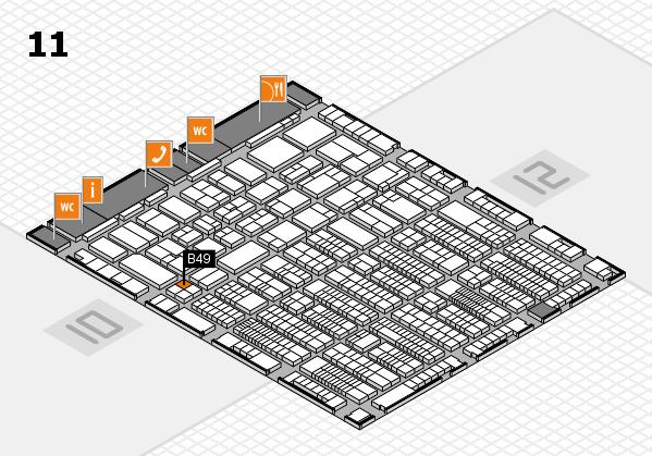 ProWein 2017 hall map (Hall 11): stand B49
